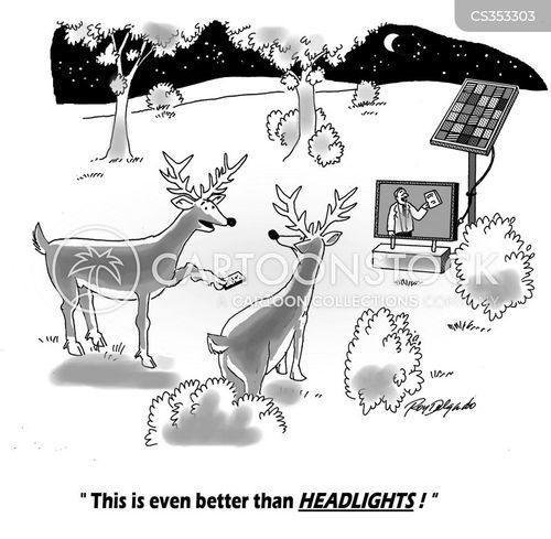 headlights cartoon
