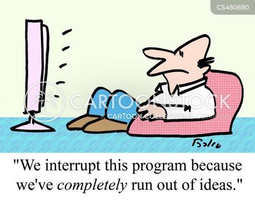 run out cartoon