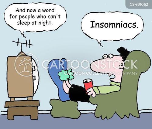 sleeping issues cartoon