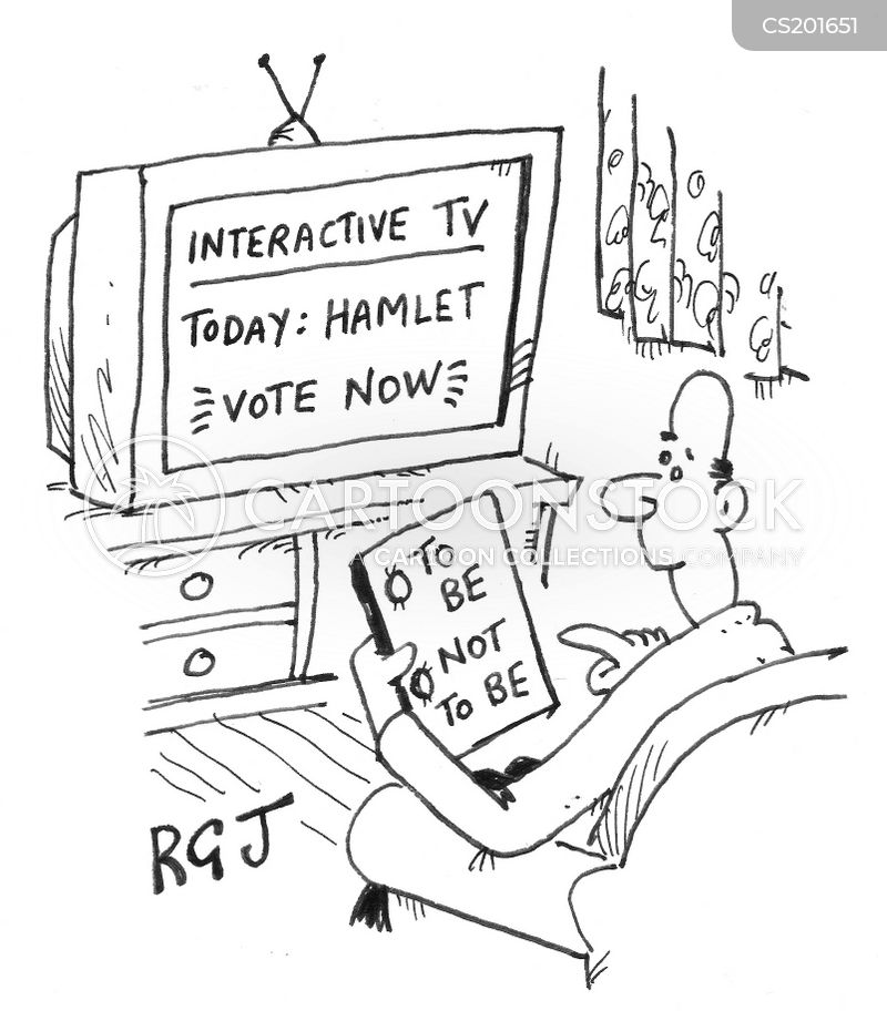 television poll cartoon