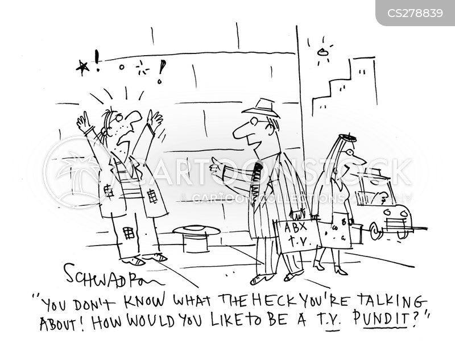 television pundits cartoon