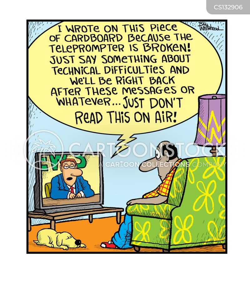 technical problems cartoon