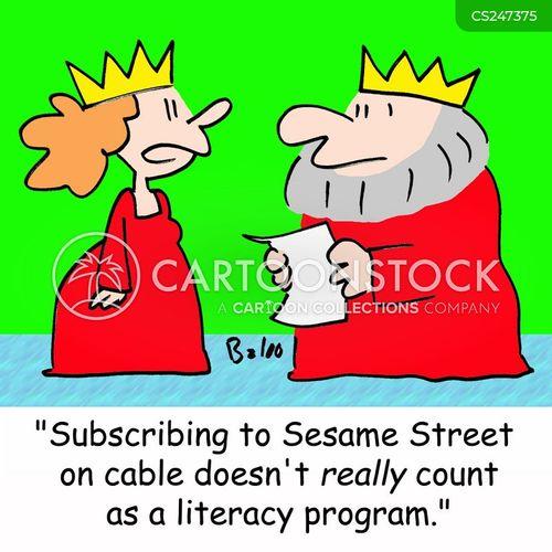 subscriptions cartoon