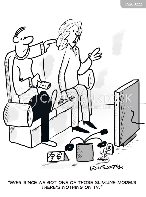 television screen cartoon