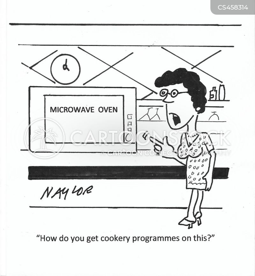 microwave ovens cartoon