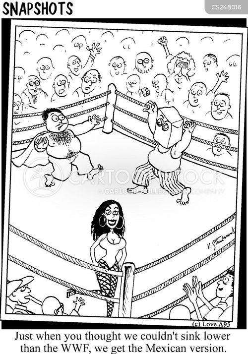 wrestles cartoon
