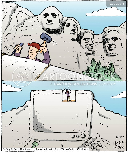 mount rushmore cartoon