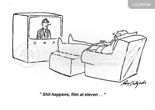 news presenters cartoon