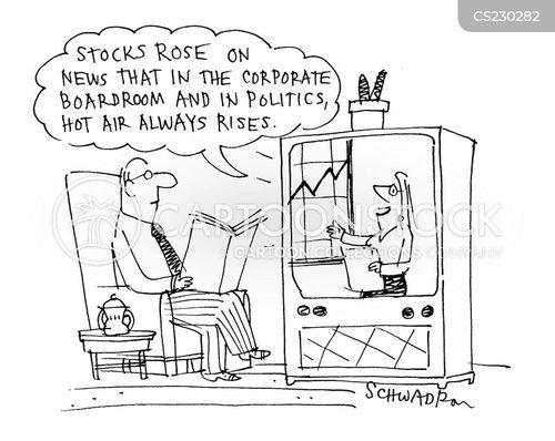 news reporting cartoon