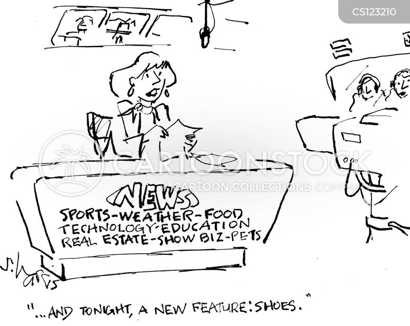 news desk cartoon