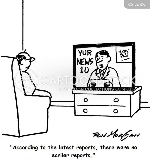 evening news report cartoon