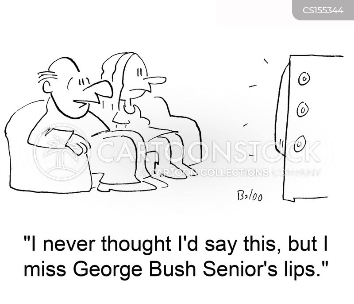 george bush senior cartoon