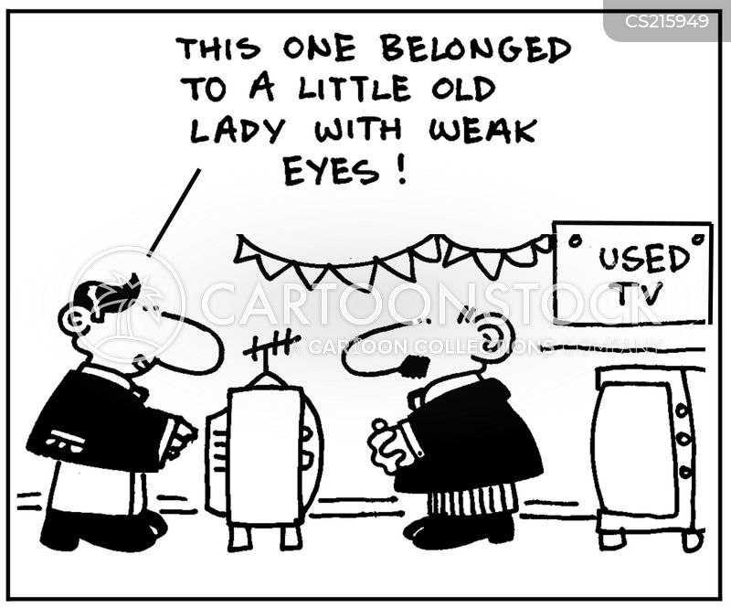 second hand televisions cartoon