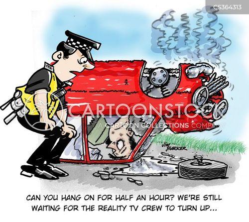 Phone Car Crash Illustration