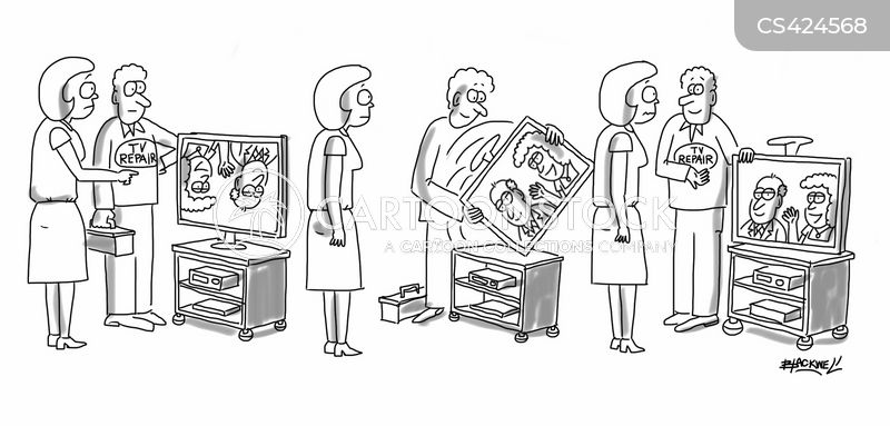 tv repairman cartoon