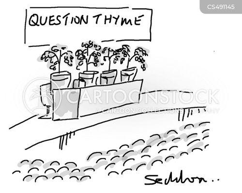 q & a cartoon