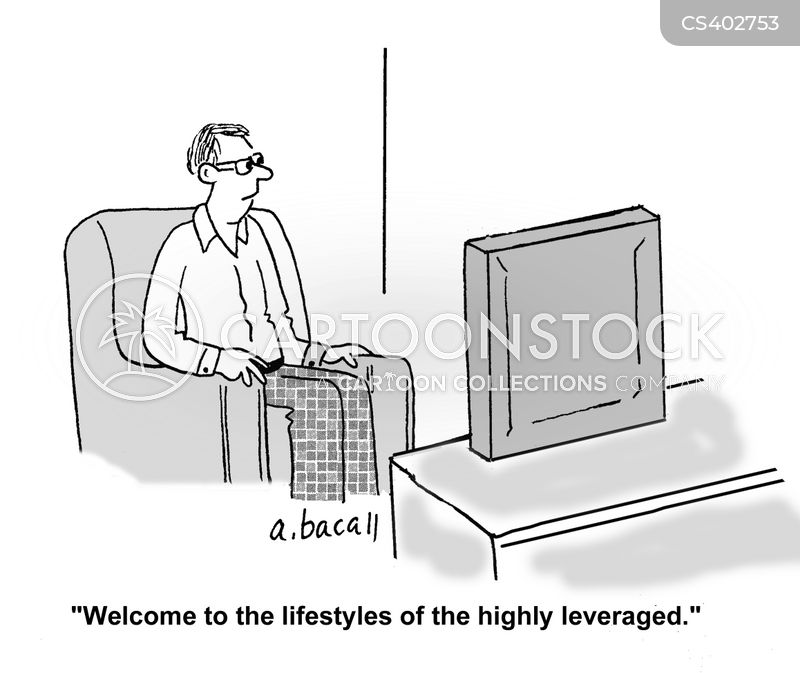 luxury lifestyle cartoon