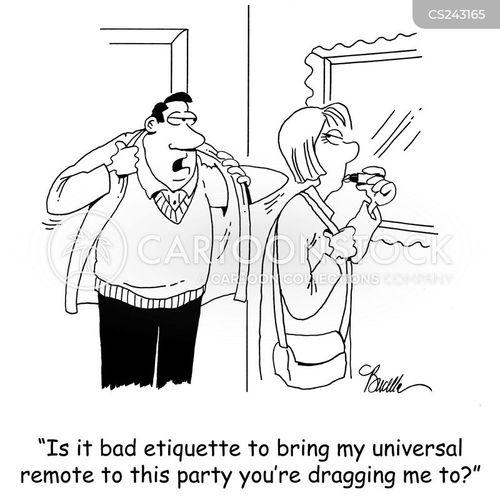 bad etiquette cartoon