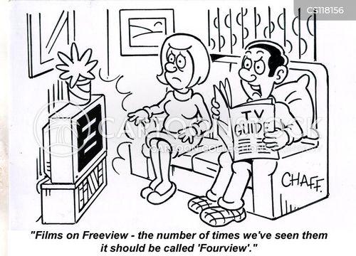 television guides cartoon
