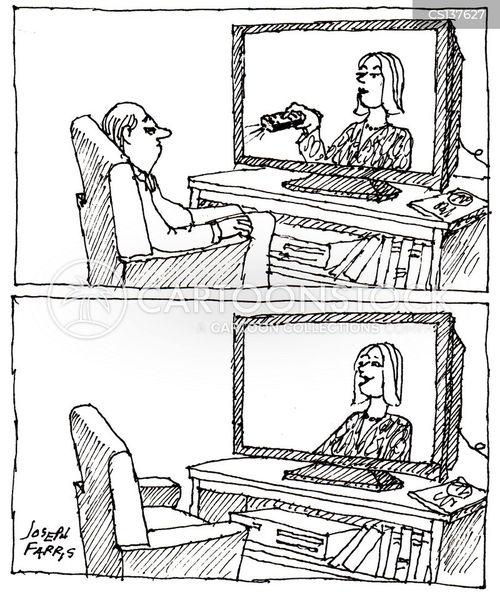 television remote cartoon