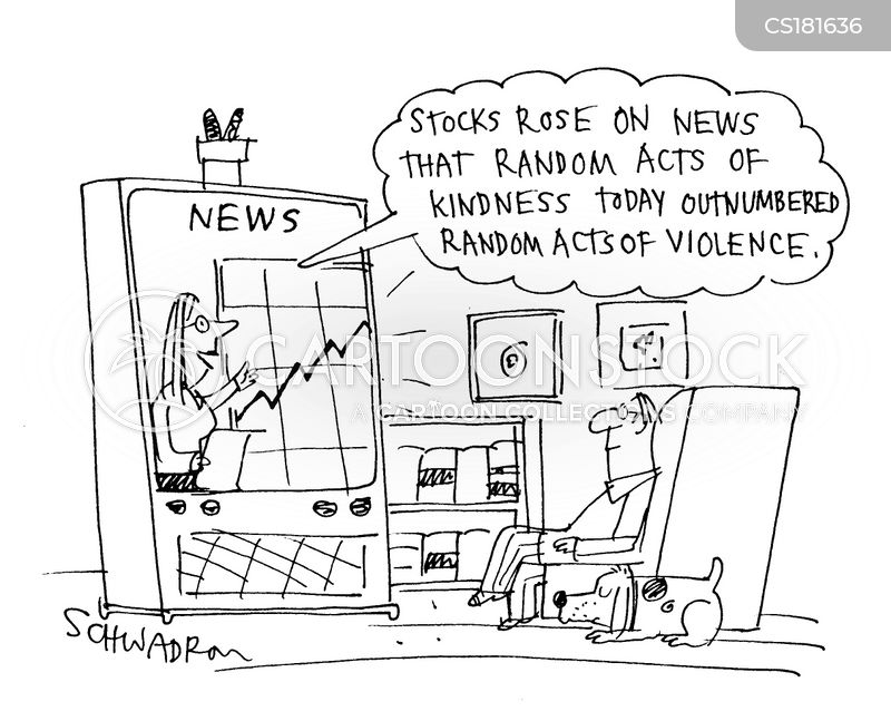 rising stocks cartoon