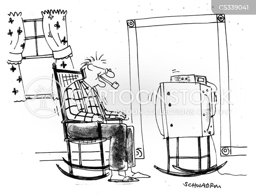 stuck at home cartoon