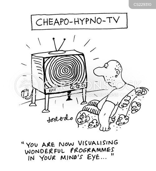 hypnotised cartoon
