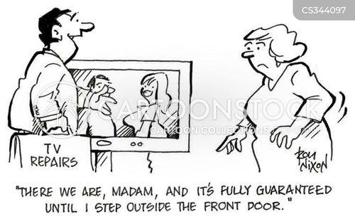 broken television cartoon