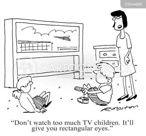 widescreen tvs cartoon
