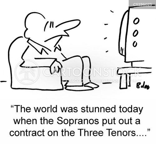 three tenors cartoon