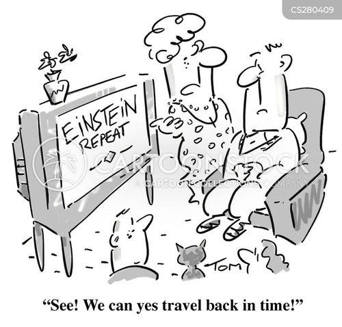 time travels cartoon