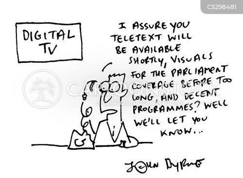 on digital cartoon