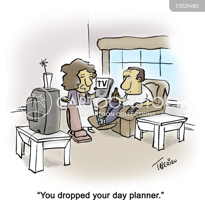 day planners cartoon