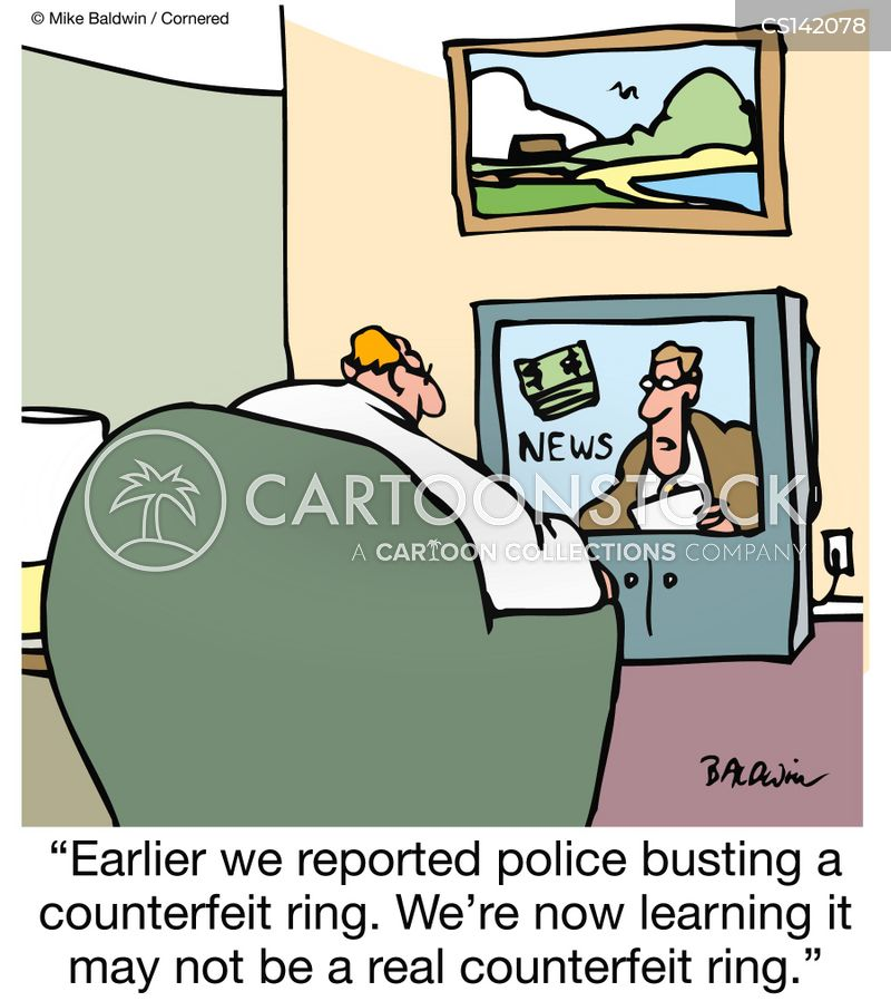 news reporter cartoon