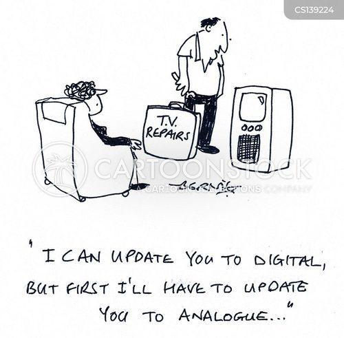 analogue cartoon