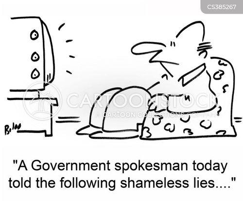 tv report cartoon
