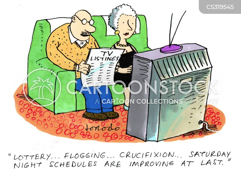 tv listings cartoon