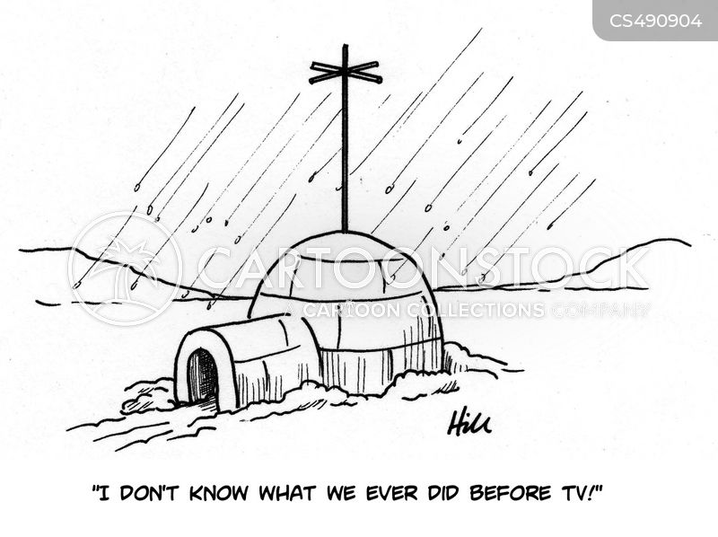 television aerial cartoon
