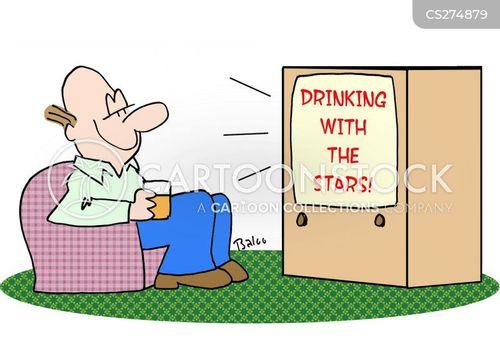 drinking alone cartoon