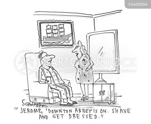 evening clothes cartoon