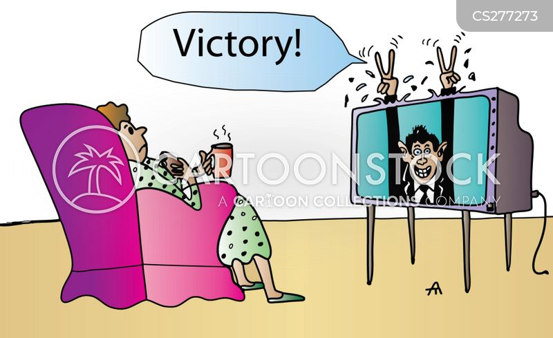 victory dance cartoon