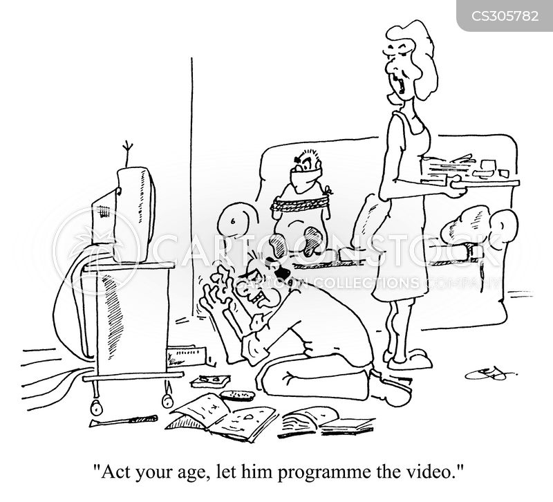video players cartoon