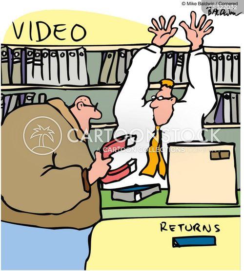 video store cartoon