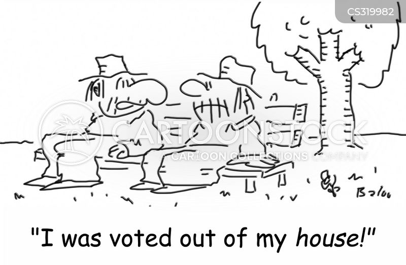 voted out cartoon