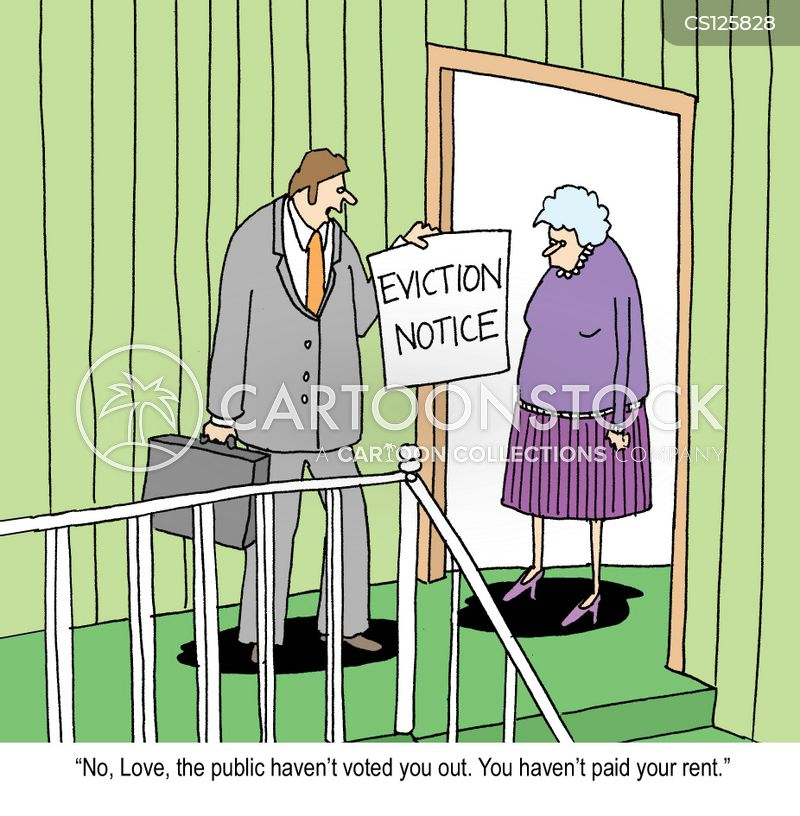 eviction cartoon
