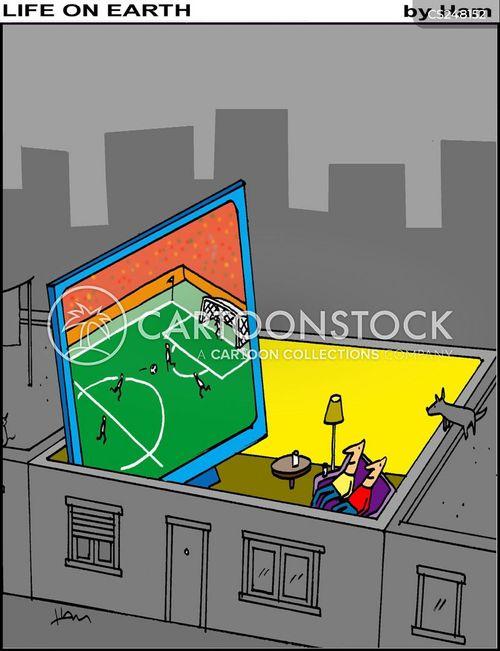 large tv cartoon