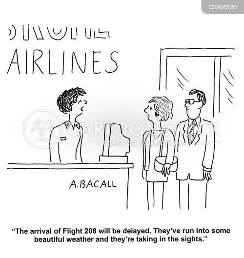 delayed flight cartoon