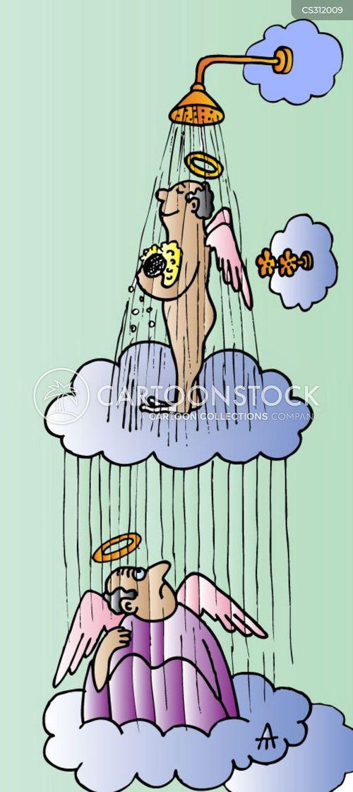 Cartoons und karikaturen mit duschen - Badezimmer comic ...