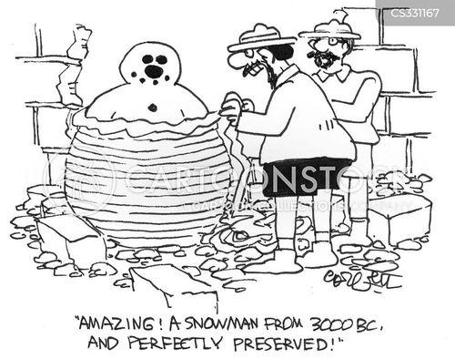 making snowmen cartoon