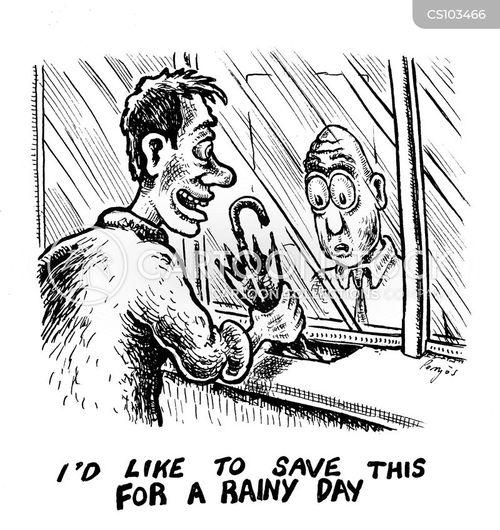 personal savings cartoon